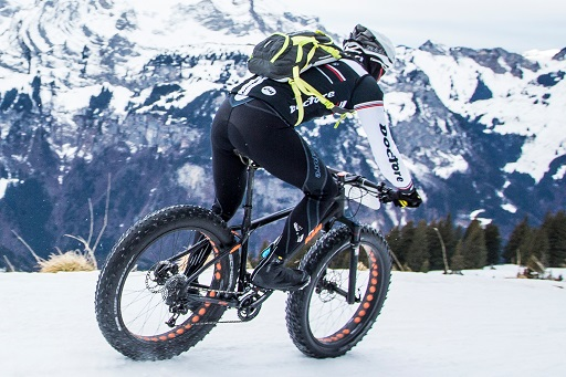 The second edition of Europe's first Snow Bike Festival will take place in GSTAAD from January 22 – 24, 2016 and will feature a 3 Day Stage Race, Eliminator Night Race, Fun Ride, Snow Bike Party & Fat Bike EXPO. Photo by: SNOW BIKE FESTIVAL/Nick Muzik