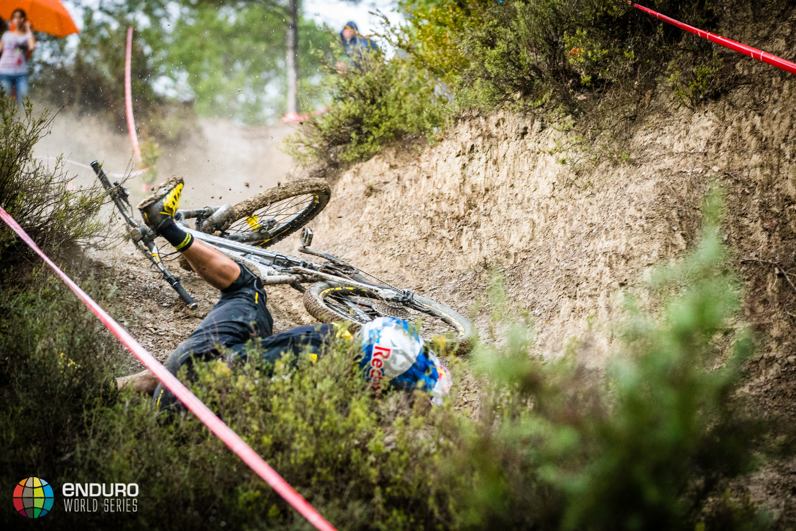 Matti Lehikoinen found conditions slick as the rain began to fall. EWS round 7, Ainsa, Spain. Photo by Matt Wragg.