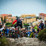Thomas Lapeyrie on stage three. EWS round 8, Finale Ligure, Italy. Photo by Matt Wragg.