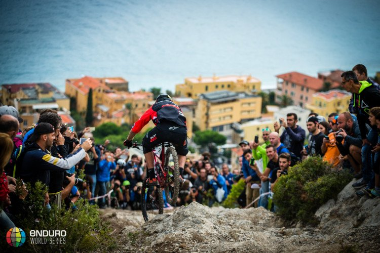 Thomas Lapeyrie on stage three. EWS round 8, Finale Ligure, Italy. Photo by Matt Wragg.