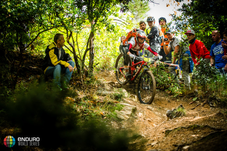 Tracy Moseley on stage five. EWS round 8, Finale Ligure, Italy. Photo by Matt Wragg.