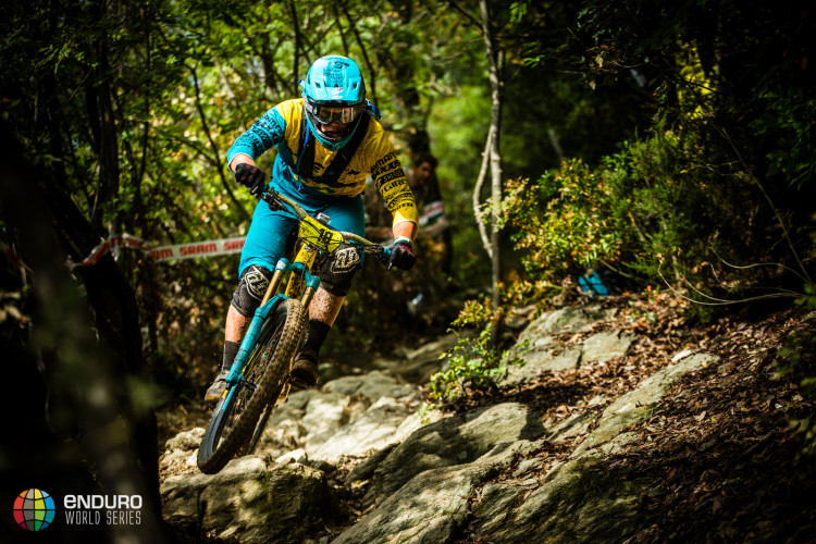 Richie Rude on stage five. EWS round 8, Finale Ligure, Italy. Photo by Matt Wragg.