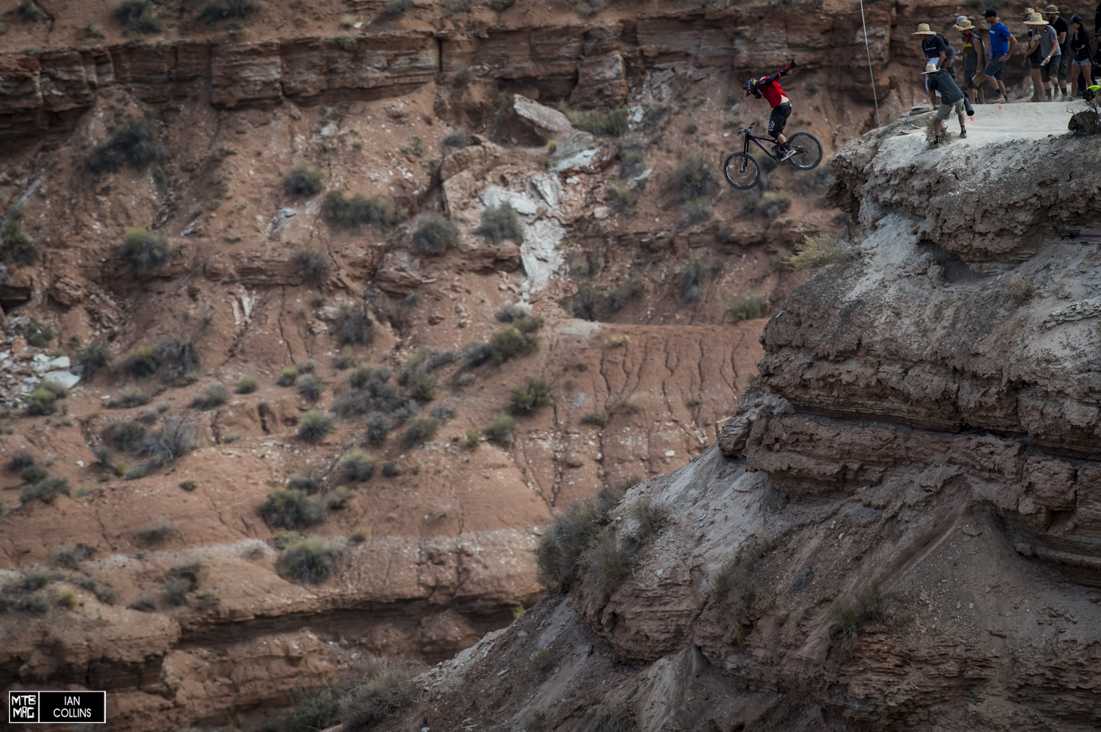 Lyle blasting a huge no hander off of the big drop at the bottom. Just like last year - but without the win.