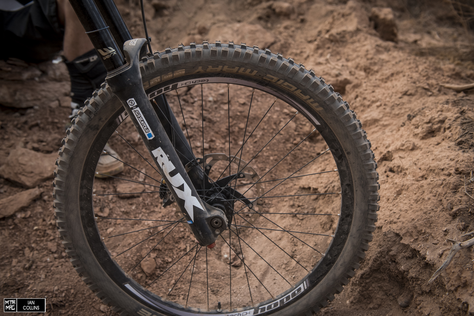 Suntour Rux.  The latest version of this fork is starting to look quite refined.  James Doerfling also rides on and seems to be loving it.  Hope wheels rolling on Schwalbe Muddy Mary tires in 2.35.