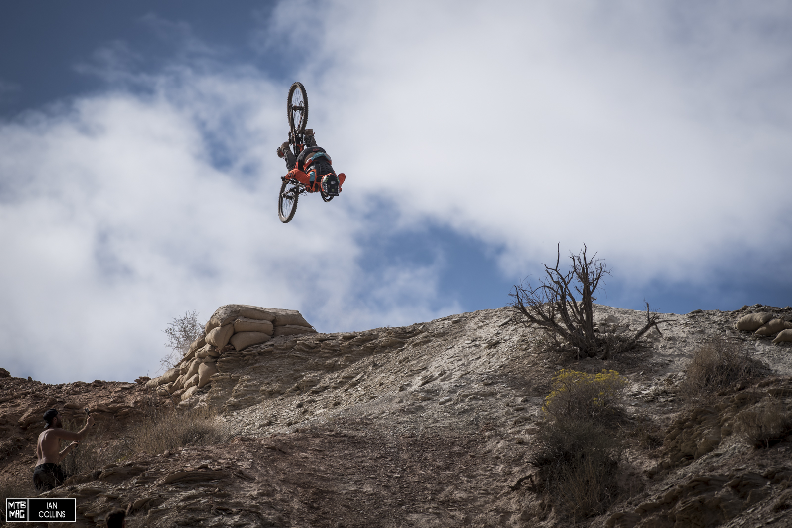 Sam Reynolds came out swinging at his first rampage. He stomped this flip in his second run.