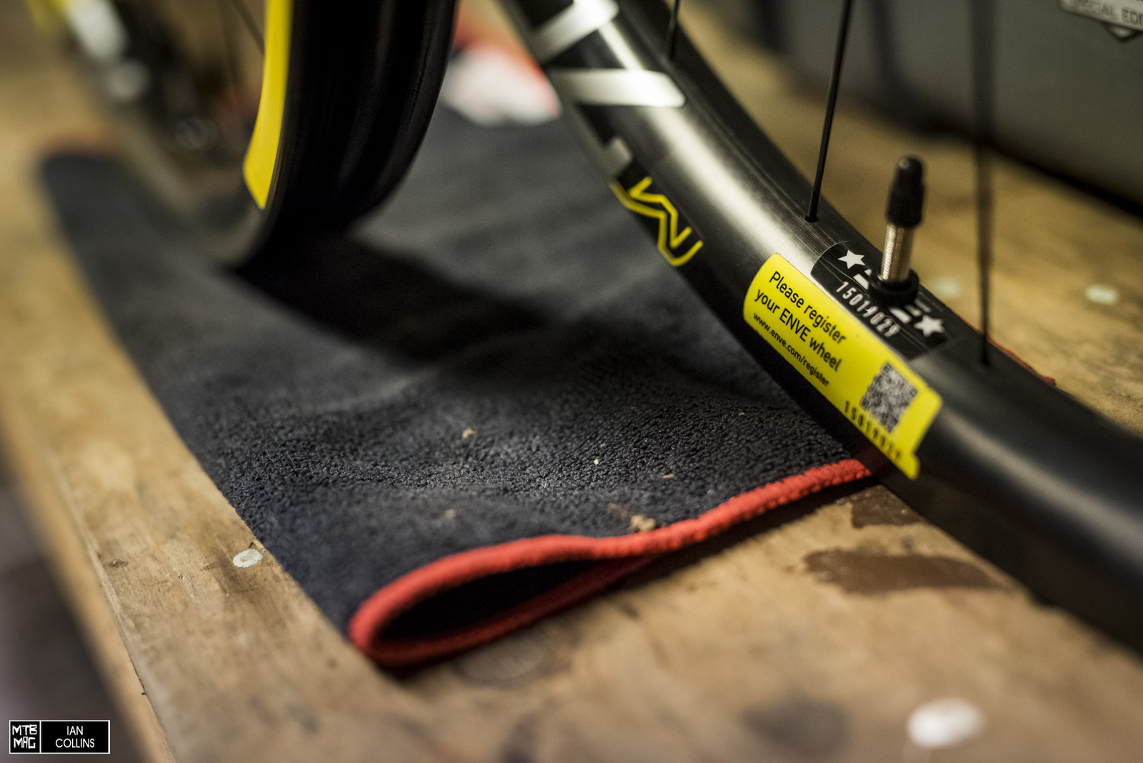 Tubeless valves are included and ENVE has a pretty cool way for their customers to register their products.