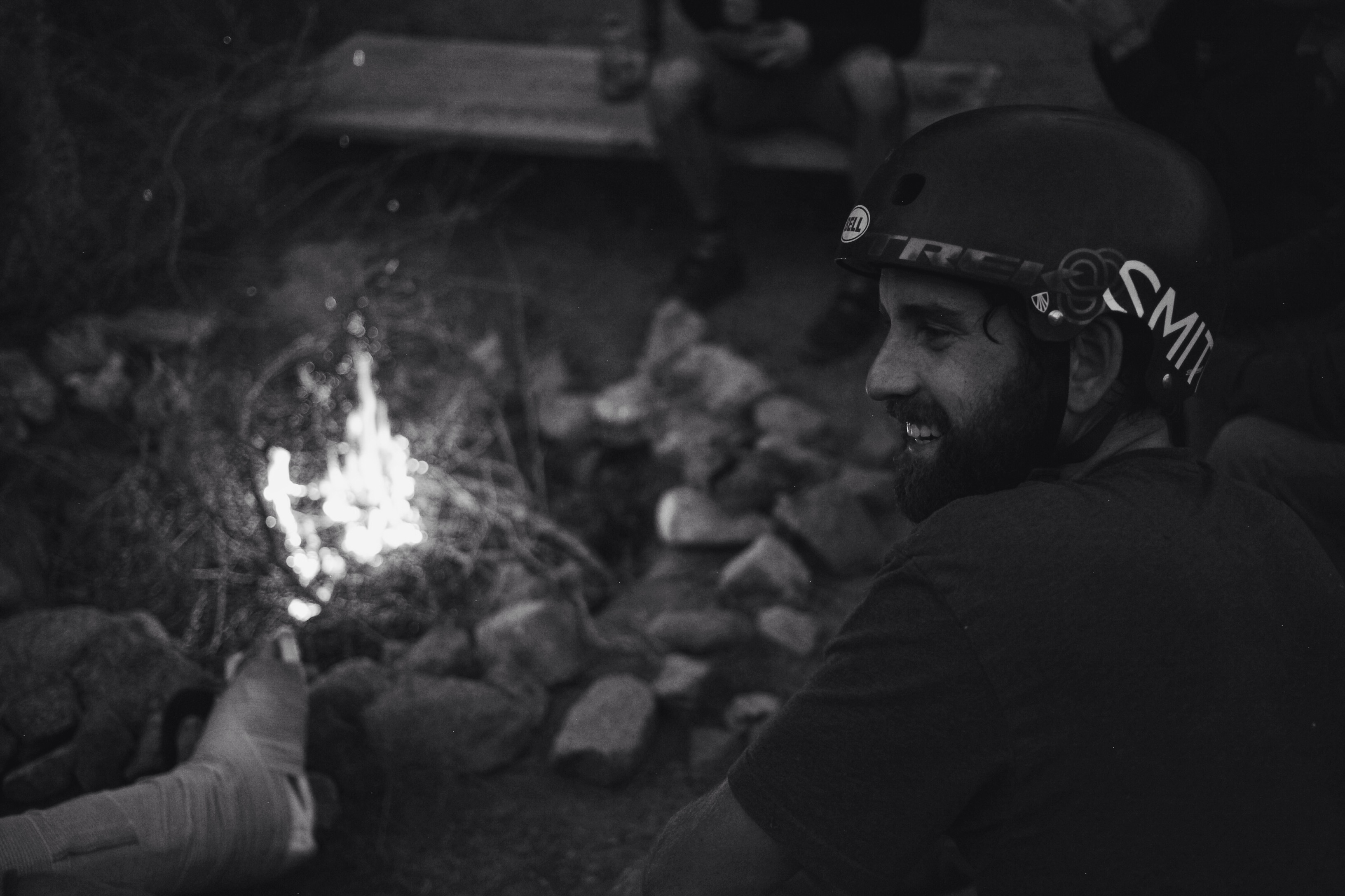 Bonfire and roadtrip stories after a good dirt jump session.