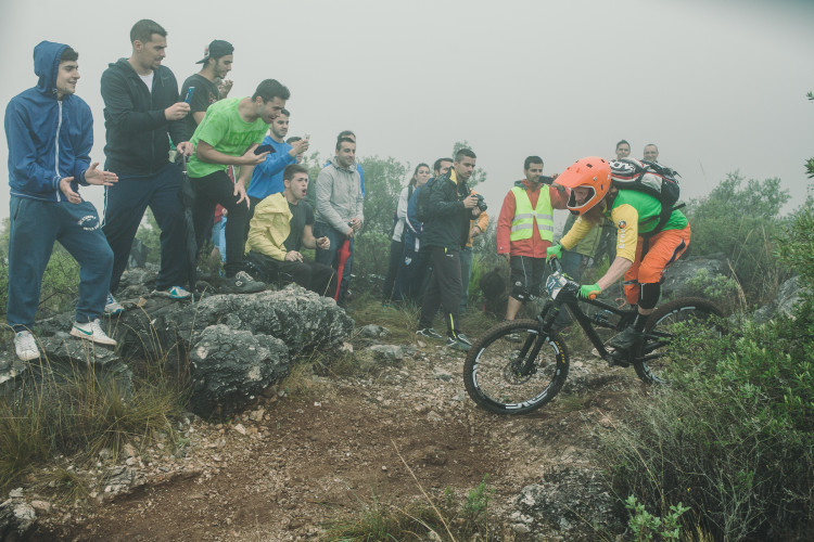 Race day stage 2 at the 5th stop of the European Enduro Series in Malaga / Benalmadena, Spain, on October 18, 2015. Free image for editorial usage only: Photo by Antonio Lopez