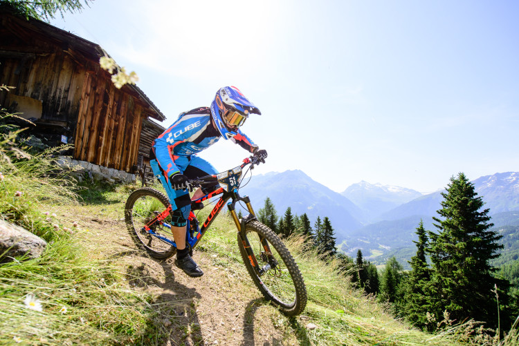 Nico LAU (FRA) on stage 1 during the 2nd stop of the European Enduro Series in Sölden, Austria, on July 05, 2015. Free image for editorial usage only: Photo by Felix Oesterle