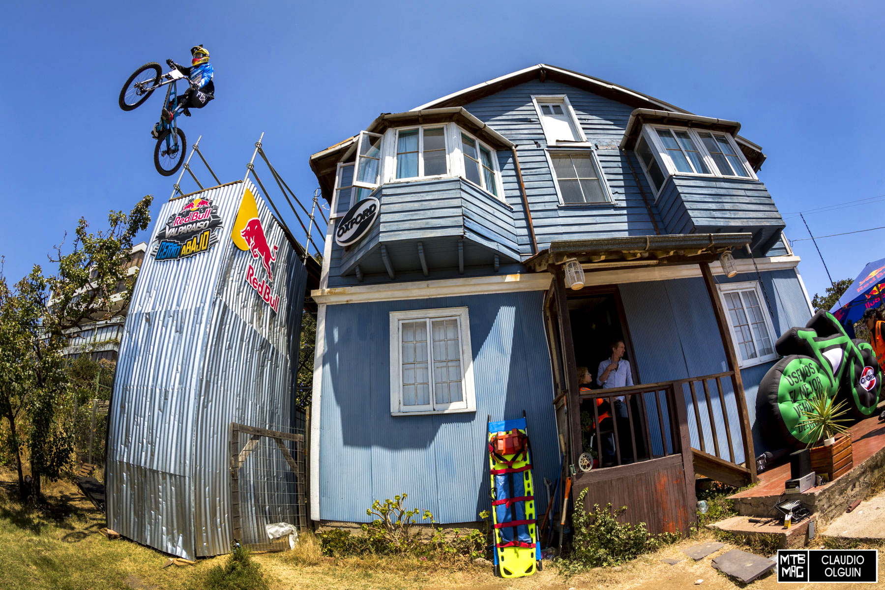 Adolfo Almarza performs during the Red Bull Valparaiso Cerro Abajo, in Valparaiso, Chile on February 21st, 2016