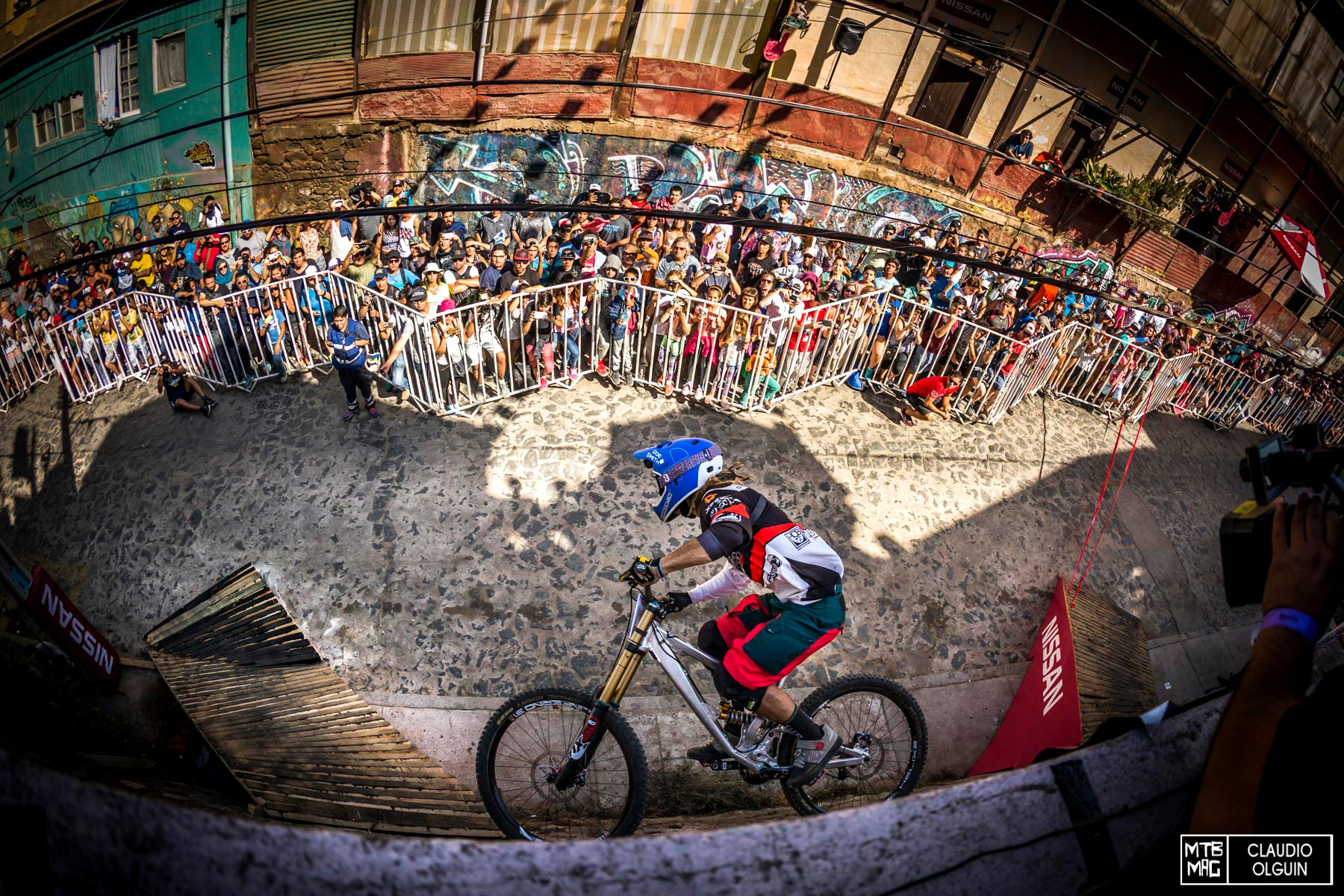 Dennis Tondin performs during the Red Bull Valparaiso Cerro Abajo, in Valparaiso, Chile on February 21st, 2016
