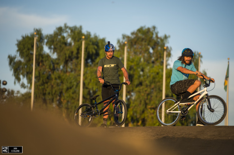 Brook and Wyn having a bit of fun on the BMX bikes at the Chula Vista Olympic training center.