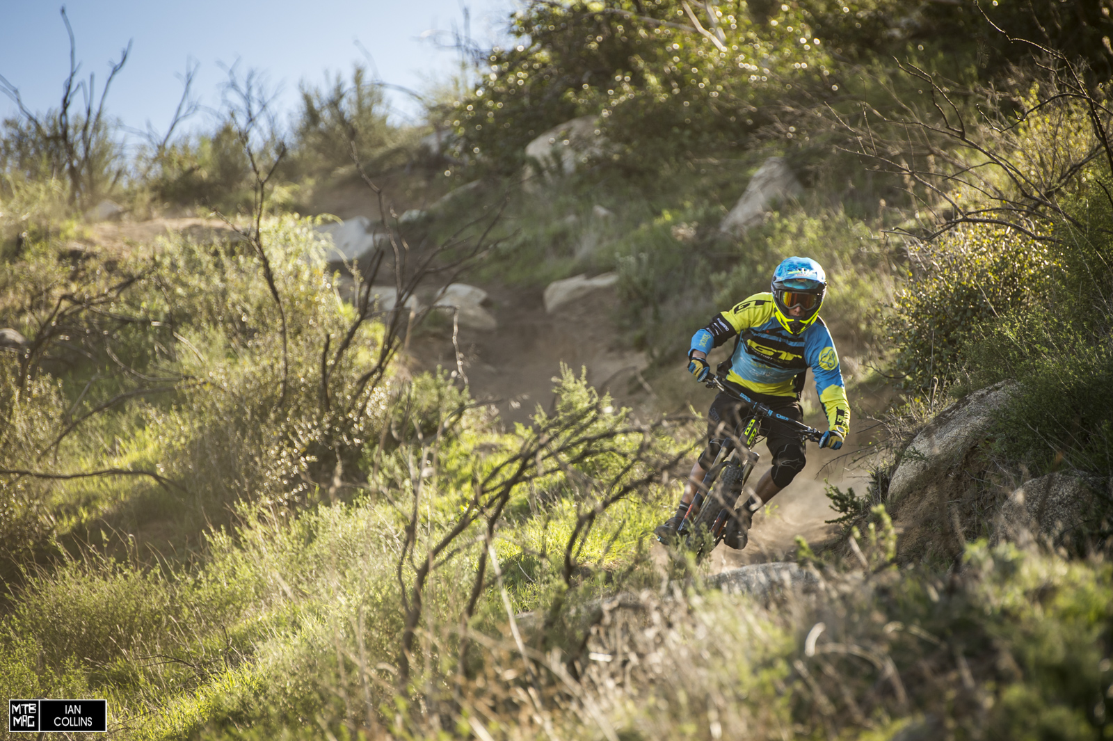 One of the reasons that Martin Maes is so fast is that he rides his Sanction ALL the time. Even on burly DH tracks. He keeps up with the others just fine.