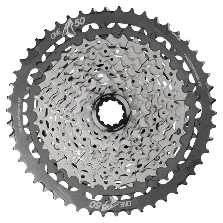 OneUp-Components-50T-Shark-Sprocket-Grey-Assembled-M700-Front-966