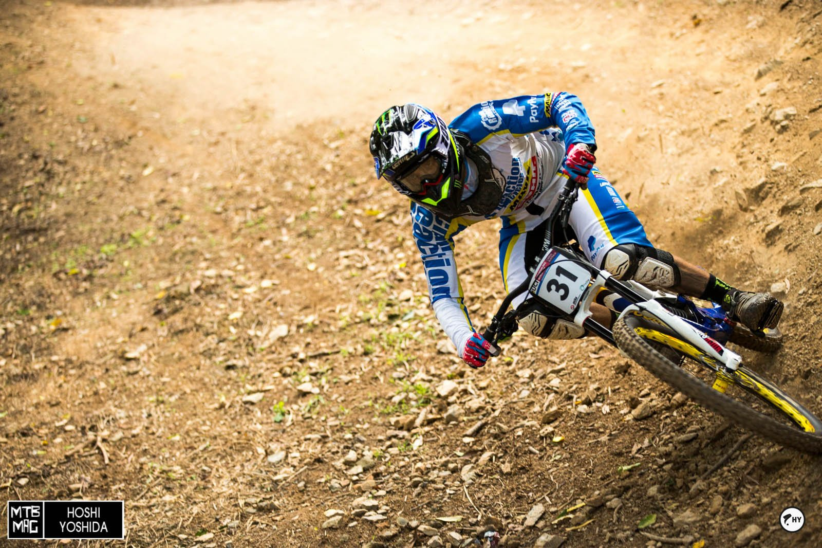 Sam Hill getting his lean on in home turf