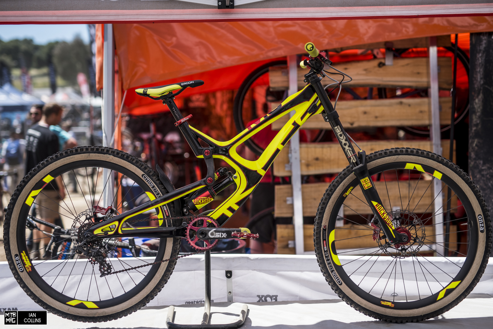 The most talked about bike of the show. Chainline bikes built this all out custom Intense M16.