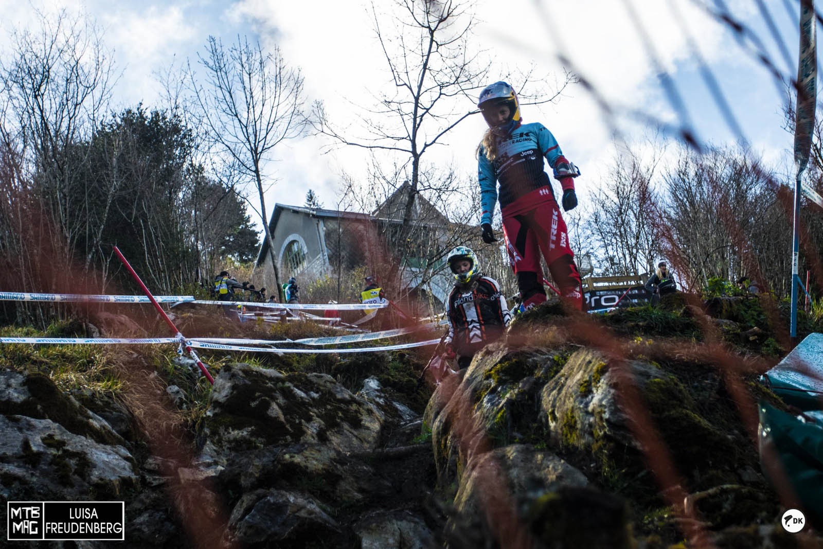 Rachel Atherton searching for a decent line...