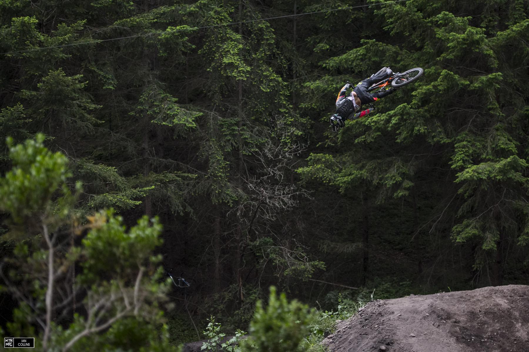 Sam Reynolds spinning the big one.