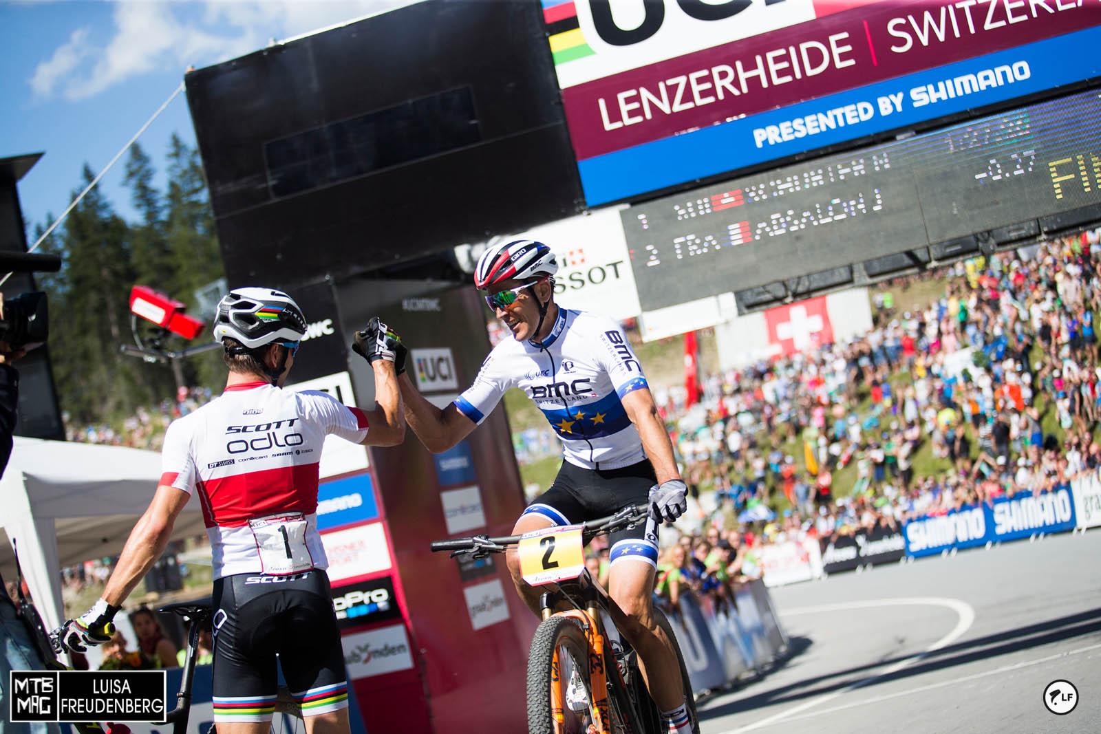 Julien congratulates Nino