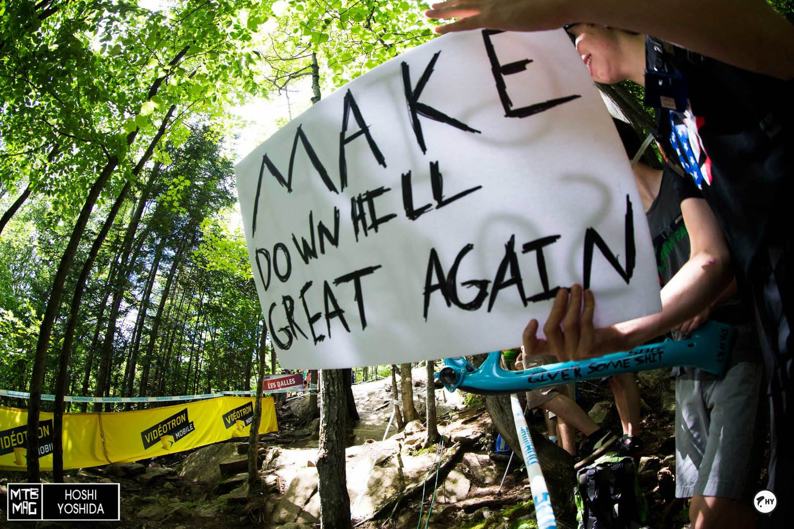 Classic witty downhill fans.