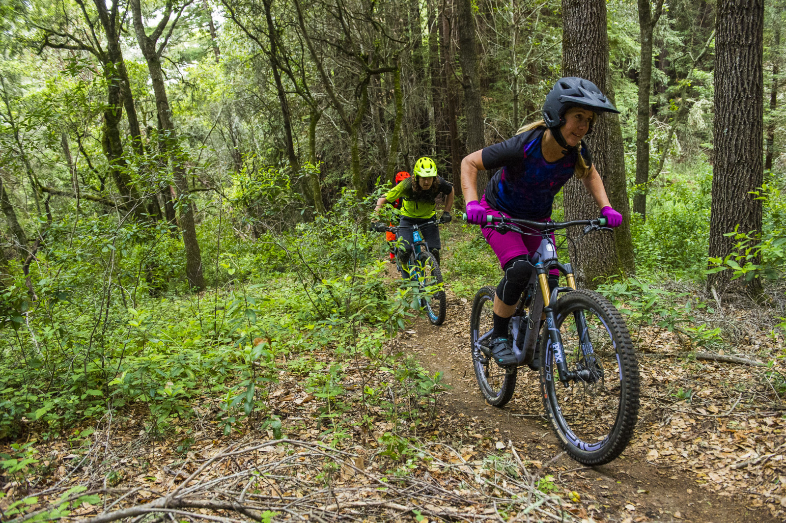 All Mountain Mountain Biking with 2017 Giro MTB clothing and gear on trails near Santa Cruz, CA.