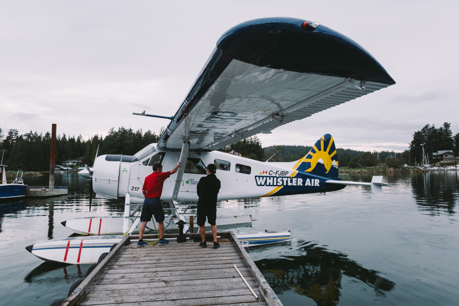 A great deal of media camps in Canada involve float planes, this was no exception.