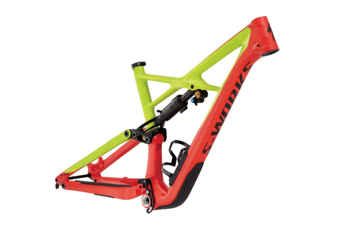 2017 Specialized Enduro S-Works Frame Kit - Red/Yellow