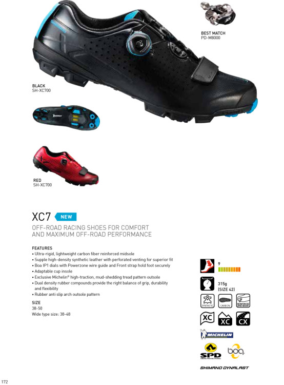 XC7 spec sheet