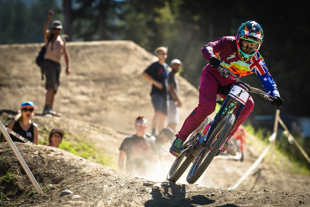 Troy Brosnan during the Canadian Open DH presented by IXS at Crankworx Whistler 2016. Photo by Clint Trahan.