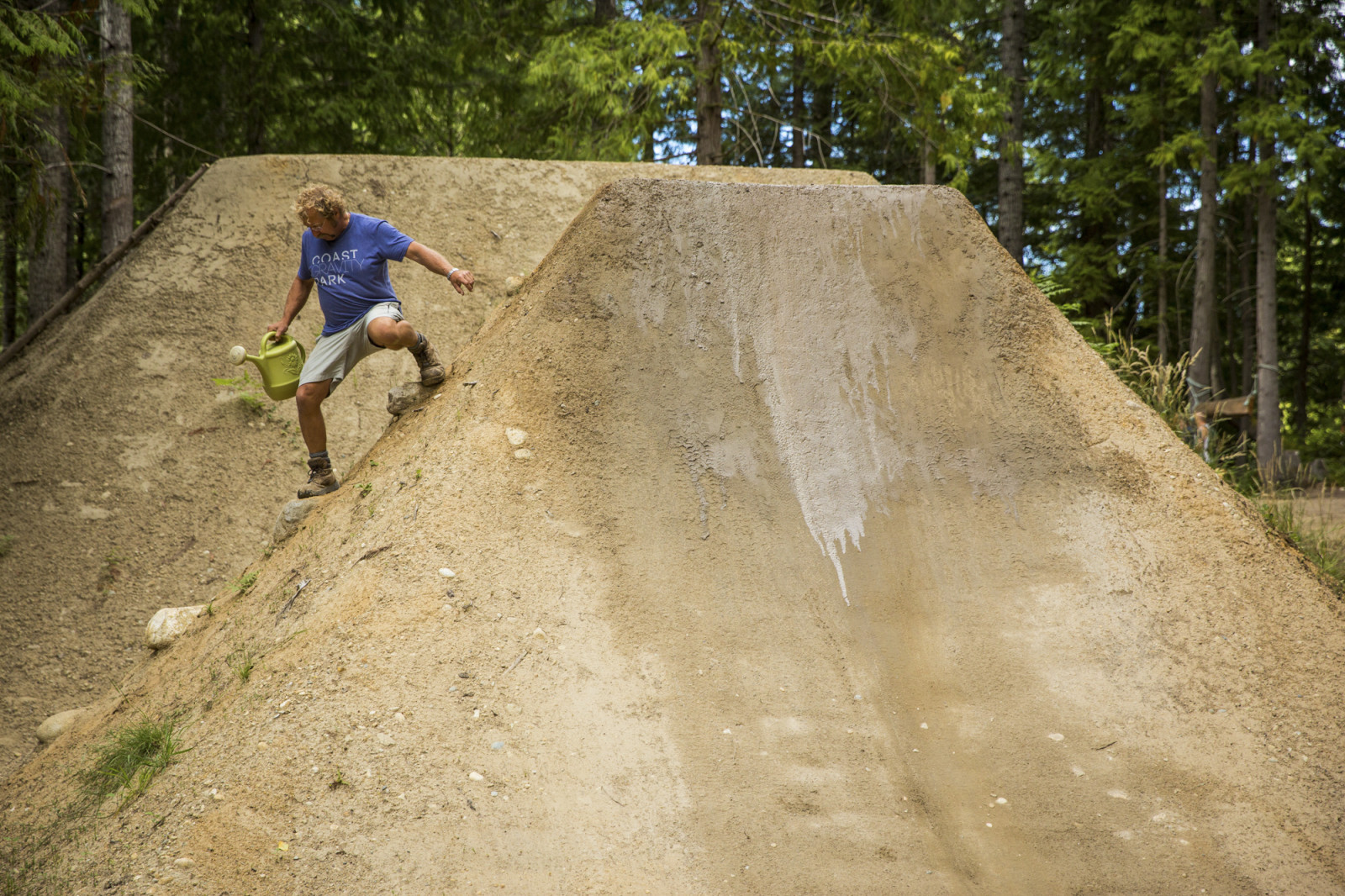 It's sketchy just trying to water these jumps.  Photo : Dylan Dunkerton