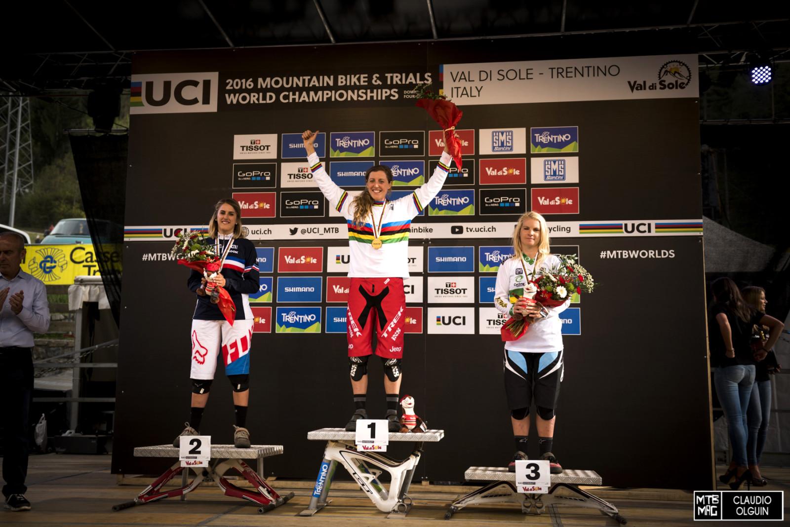 Ladies podium.