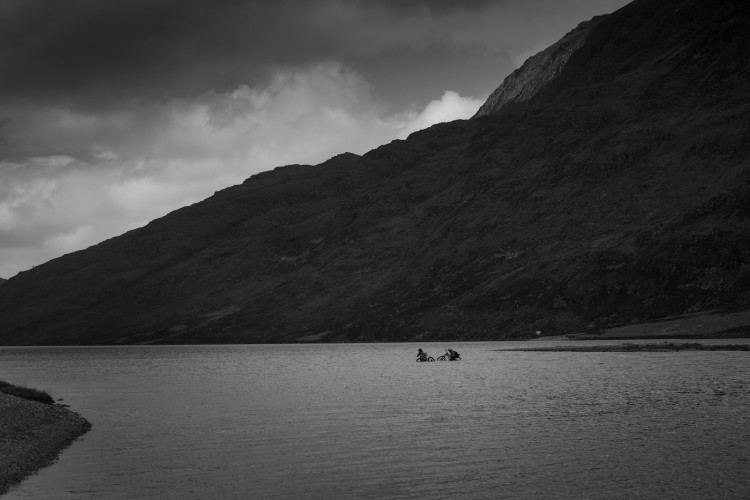 Matt Hunter and Thomas Vanderham in the northern highlands of Scotland