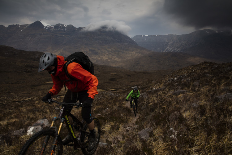 Matt Hunter and Thomas Vanderham in the northern highlands of Scotland