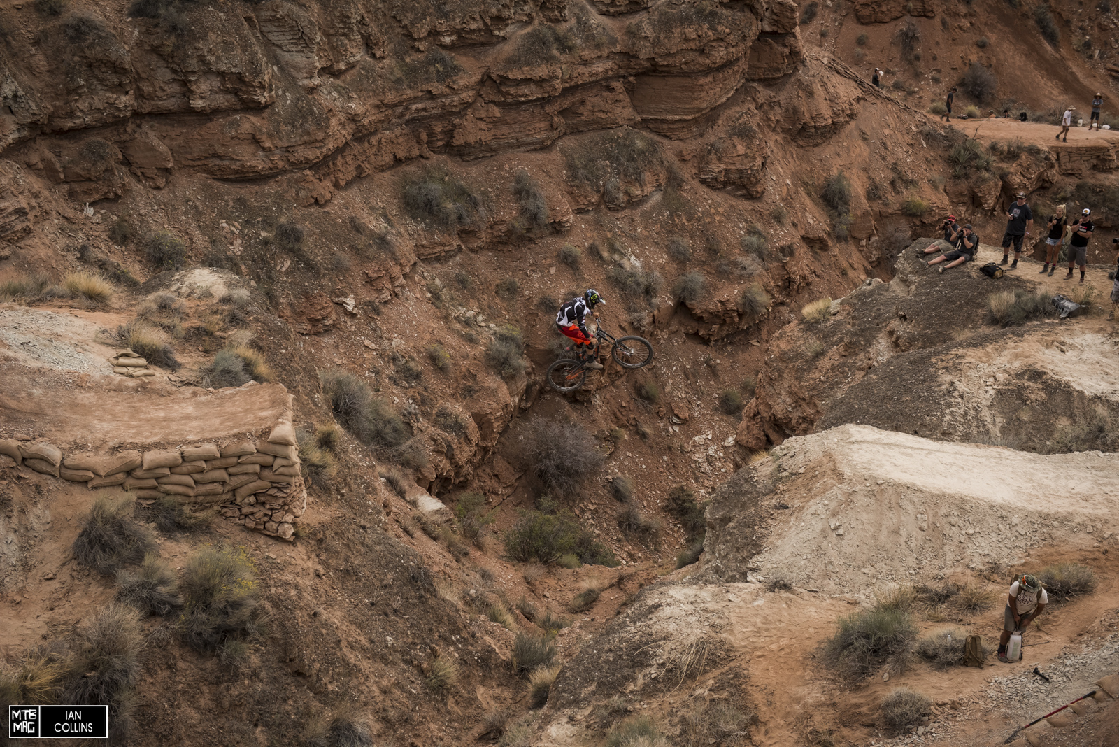 Zink with a canyon gap into his big drop. He botched it shortly after this but is still OK.