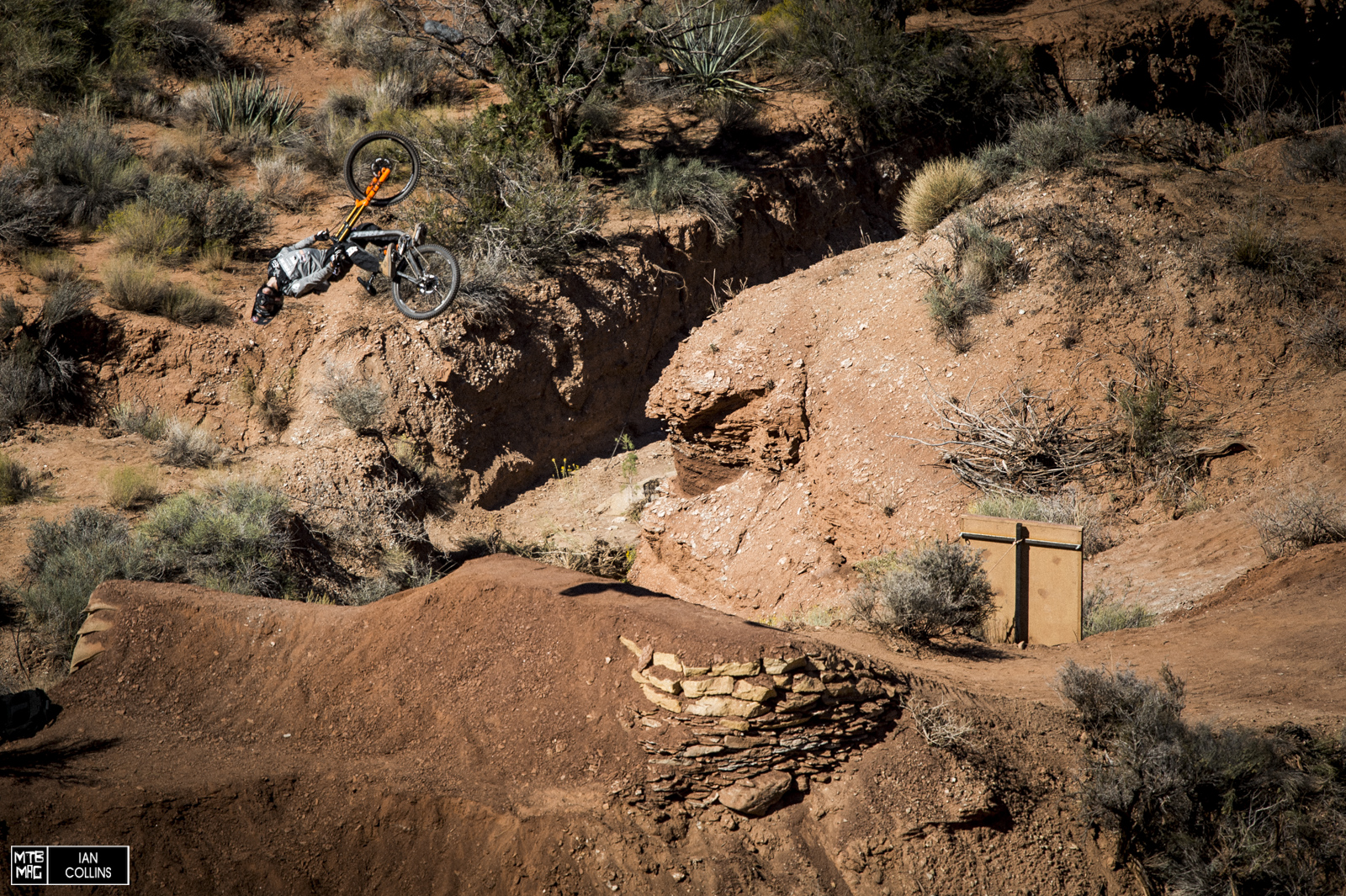 Brett Rheeder stomping his very first 720 on a DH ike.