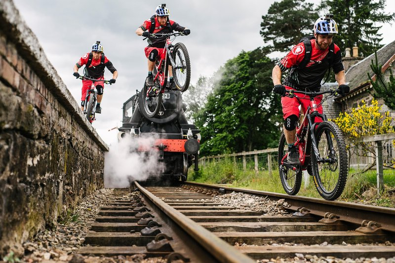 Danny MacAskill gap from platform to rail