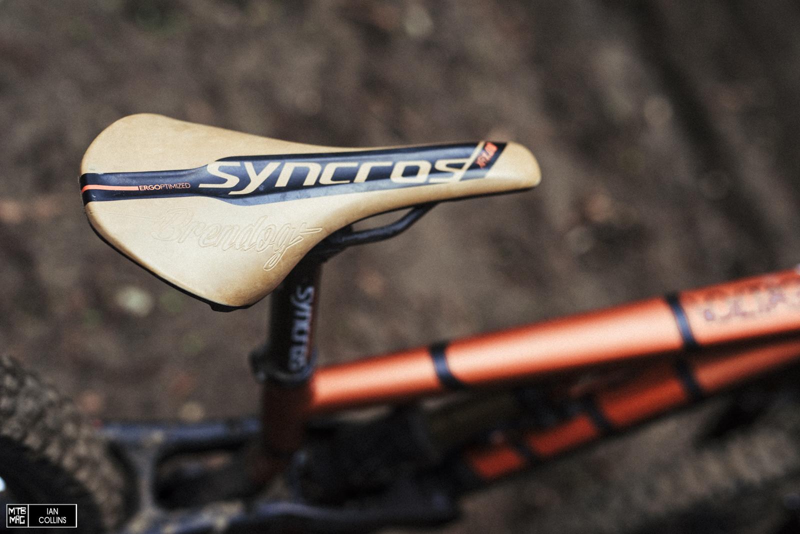Brendan's custom Syncros saddle.