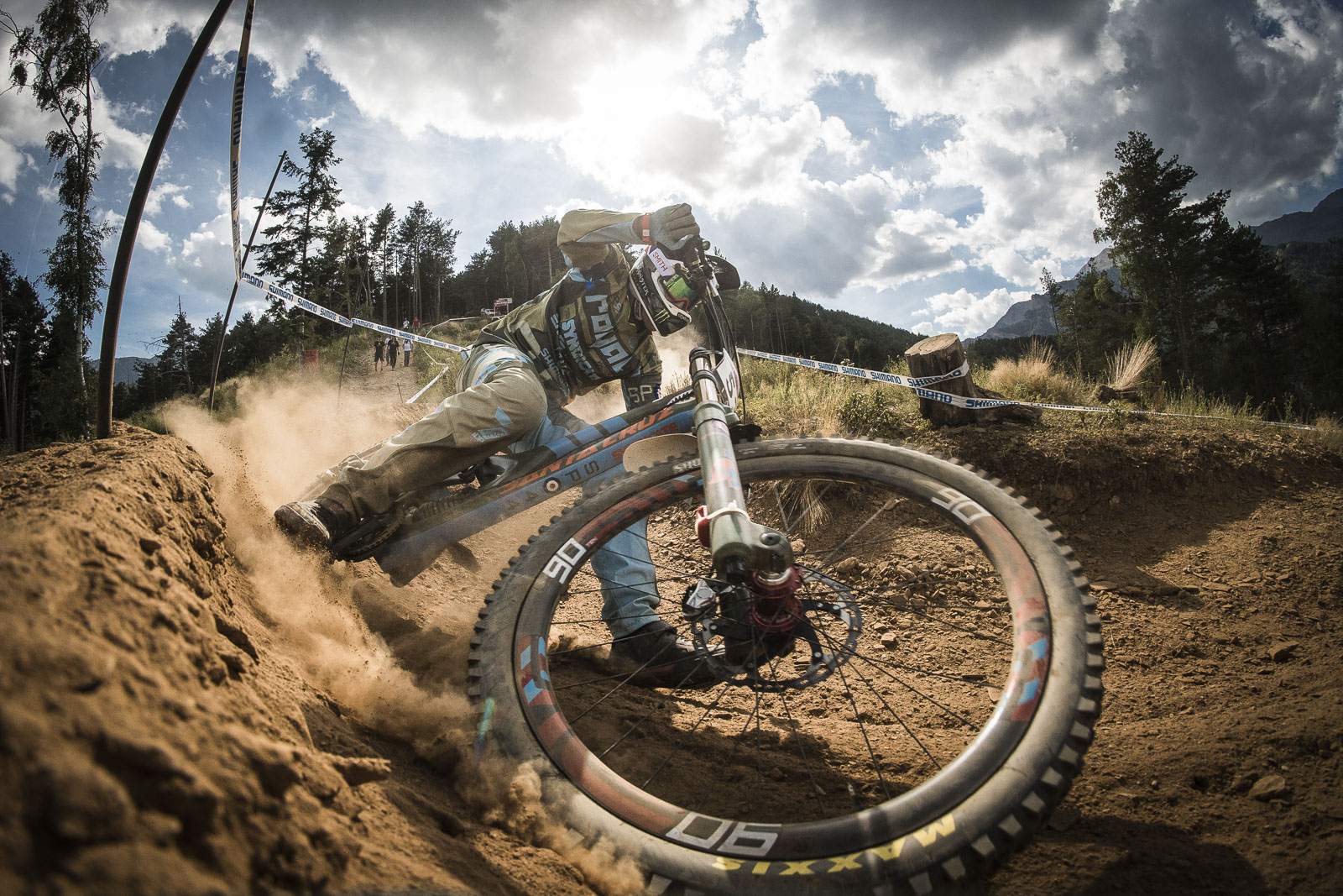 Steve Peat is looking on the pace this weekend while all his friends are off battling it out at masters world champs