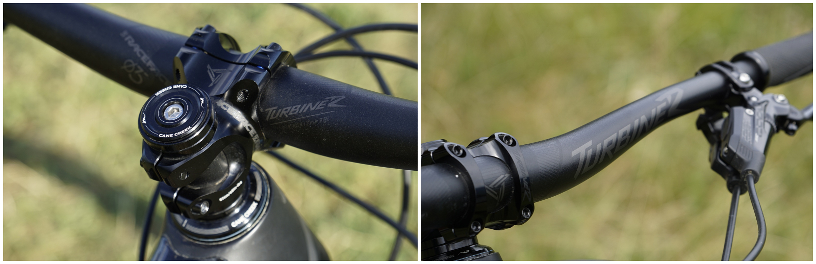 1a73b390a5d Another characteristic of the SBG is the short stem, in this case a 40mm  RaceFace Turbine. From the same series is the great 800mm Sweep handlebar,  ...